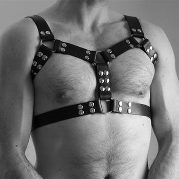 Leder Brust Gürtel Einstellbar BDSM Körper Bondage Fetisch Kleidung 1