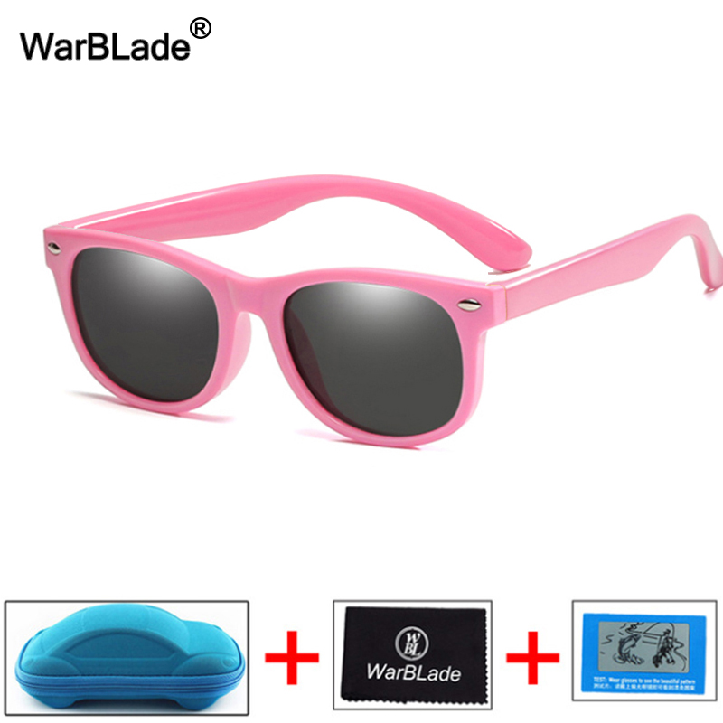 New Kids Polarized Sunglasses Children Boys Girl Sun Glasses Silicone Safety Glasses UV400 Eyewear Baby Shades Oculos With Boxes