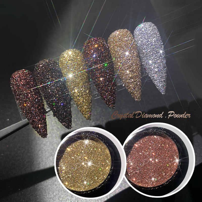 1 Pcs Kawaii Kuku Berkilau Glitter Set Bubuk Laser Gemerlapan Kuku Seni Chrome Pigmen Perak DIY Dekorasi Nail Art Kit JZ06