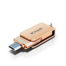 Fashion 2 in 1 USB Flash Drive 128GB 64GB 32GB 16GB Metal Dual Plug Pen Drive Flash Drive Memory Stick USB 2.0 Type C Memory Stick Storage Device U Disk For Phone/Tablet/PC - Rose gold, silver недорого