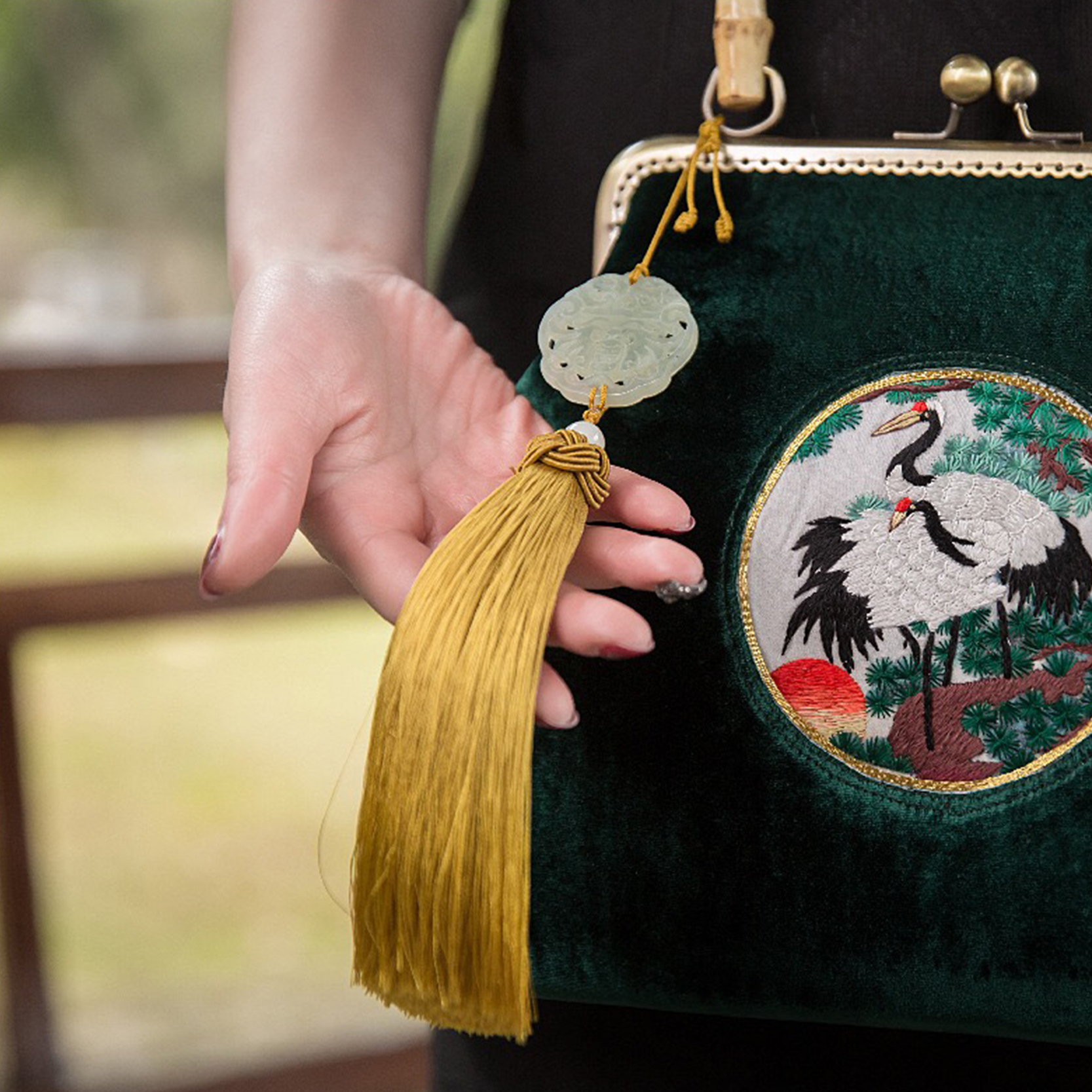 Оригинальная дизайнерская женская сумка в китайском стиле вместительная
