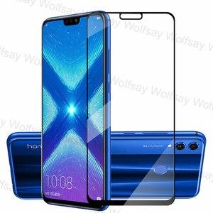 Image 2 - 2,5 D Volle Abdeckung Screen Protector Für Huawei Honor 9A 9C 9S X10 8X 9X 20 Lite Glas Für huawei Y9S Y8P Y7P Y6P Y5P Gehärtetem Glas