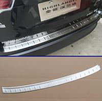 Stainless Steel Rear Bumper Sill Protector Trim For Toyota Highlander 2014 2015 2016 2017 2018 2019