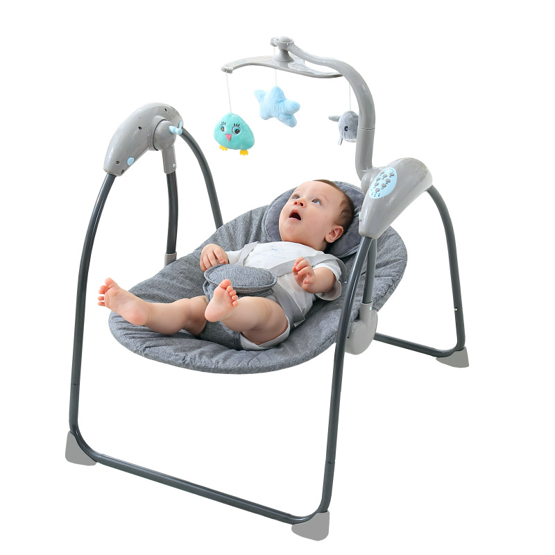 Baby Electric Swing Cradle Children's Smart Toy Bed Baby Swing Sleep Assistant Rocking Bassinet Multi-Functional Crib Infant Bed