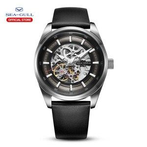 Image 1 - Seagull zegarek męski biznes Hollow Luminous wodoodporny automatyczny zegarek mechaniczny zegarek męski mechanik 819.92.6076H