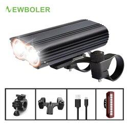 Newboler 5200 MAh Xe Đạp Đèn Xe Giá Đỡ Gắn USB Sạc MTB Xe Đạp Đèn Pin Xe Đạp Đèn Lồng Cho Đèn Xe Đạp