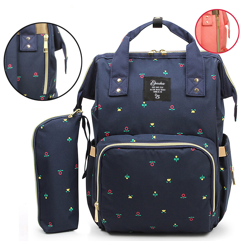Snailhouse Mummy Bag Double Shoulder Multifunction Large Capacity Mother Bag Diaper Bag Mother Baby Out Nappy BagTravel Backpack