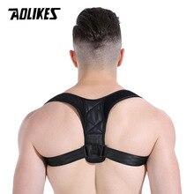AOLIKES Back Shoulder Posture Correction Adjustable Adult Sports Safety Back Support Corset Spine Support Belt Posture Corrector