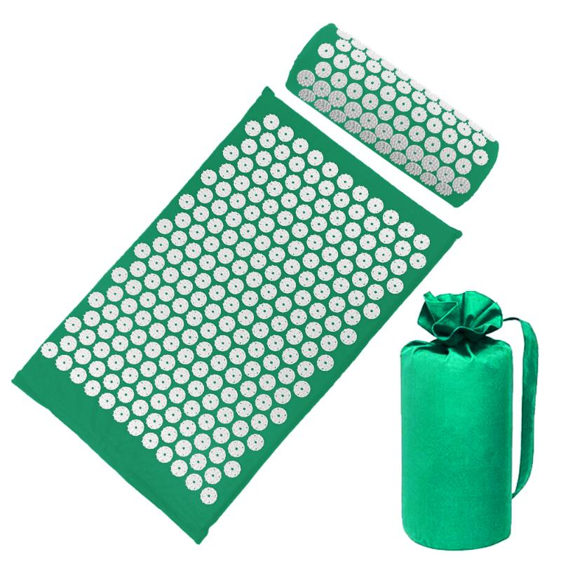 Acupressure Massage Mat with Pillow set to body Relaxation to Release Stress and Tension 51