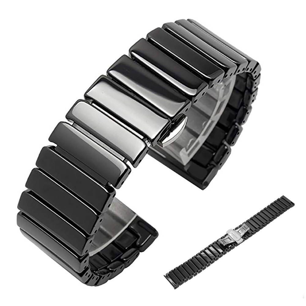 Ceramic Watch Strap For Samsung Galaxy Gear S3 Galaxy 46mm 42mm Active Watch Band S2 20mm 22mm Watch Band Bracelet