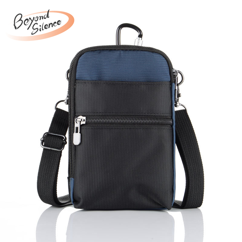 New Multi-Function Nylon Waist Bags 6 inch Anti Theft RFID Hip Belt Travelling Mountaineering Mobile Phone Bag Packs