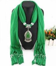 Droplet Resin Drop Scarf Euro-American  Dacron Liushu Khan Ethnic Minority Jewelry pendant scarf