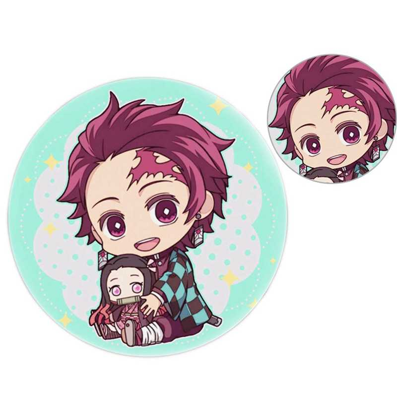 Anime odznaki Demon Slayer: Kimetsu No Yaiba Cosplay broszka przypinki tornister 5.8CM