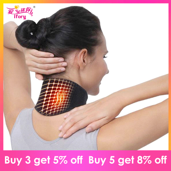 Ifory Health Care Neck Support Massager 1Pcs Tourmaline Self-heating Neck Belt Protection Spontaneous Heating Belt Body Massager