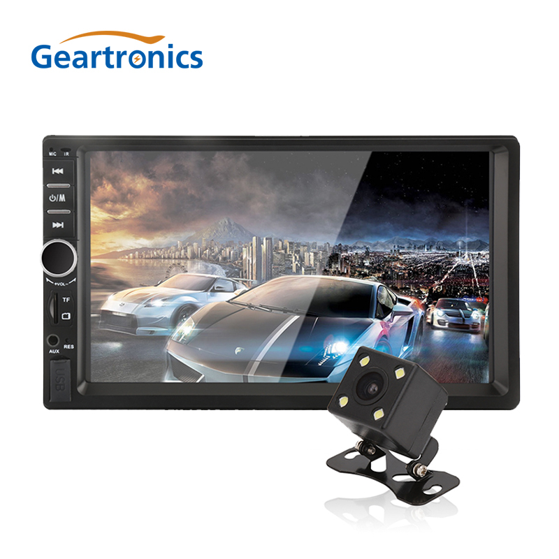 Reproductor Multimedia 7018B para MP5 de coche con 2 Din, pantalla táctil HD de 7