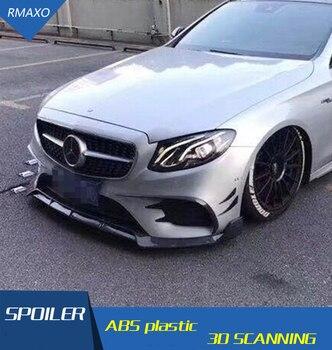 For W213 Body kit spoiler 2016-2018 For Mercedes-Benz E-Class ABS Rear lip rear spoiler front Bumper Diffuser Bumpers Protector