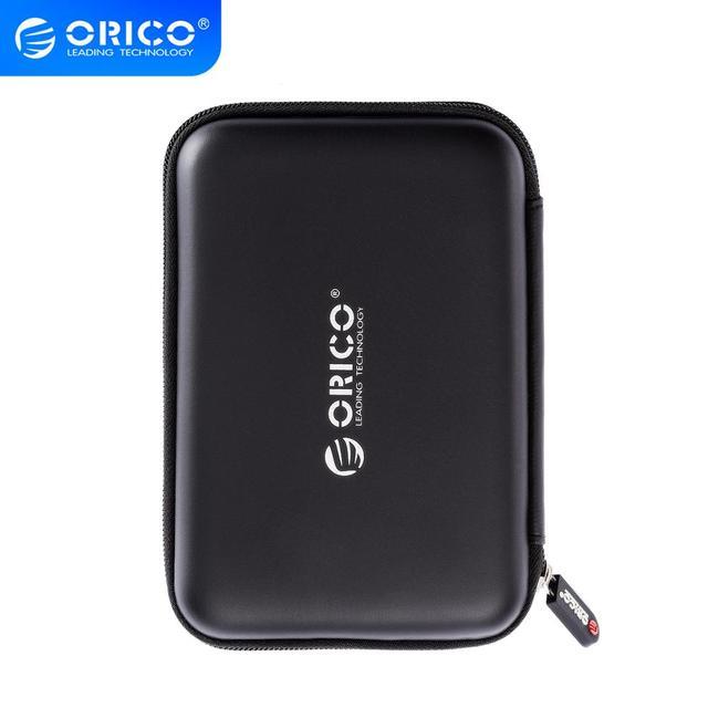 """ORICO 2.5 """"HDD 케이스는 Seagate 용 가방 상자를 보호합니다. Samsung WD 하드 드라이브 보조베터리 USB 케이블 충전기 외장형 하드 디스크 파우치 케이스"""