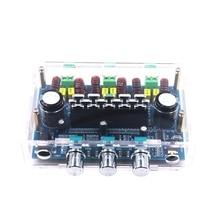 XH A305 con caja TPA3116, Subwoofer de Audio de 2,1 canales, AUX AMP, Bluetooth 5,0, placa amplificadora Digital estéreo de potencia 50Wx2 + 100W