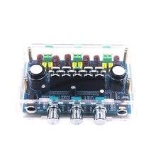 XH A305 z pudełkiem TPA3116 2.1 kanałowy Subwoofer basowy AUX AMP Bluetooth 5.0 stereofoniczna karta do cyfrowego wzmacniacza mocy 50Wx2 + 100W