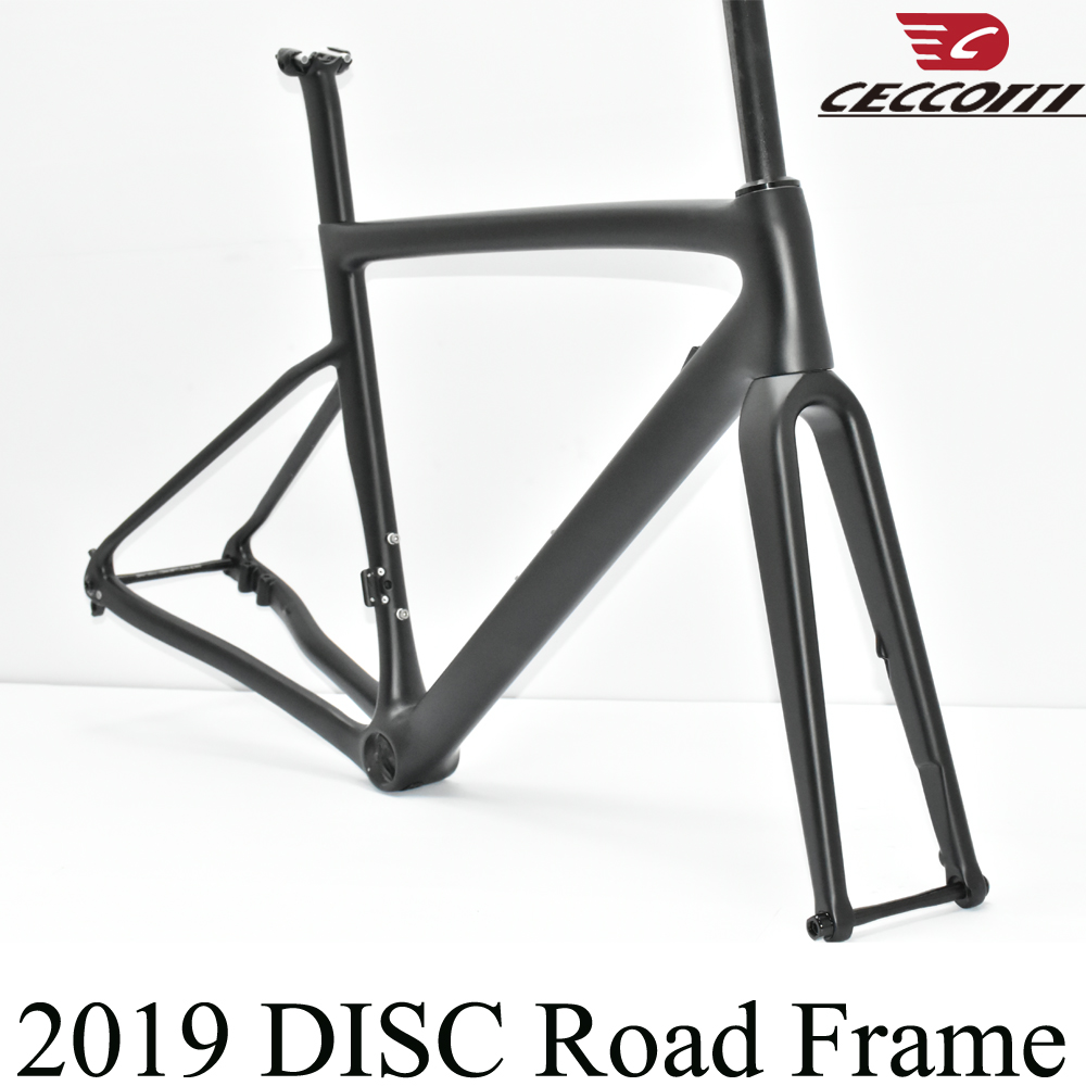 2019 CECCOTTI new disc brake taiwan made full <font><b>carbon</b></font> <font><b>T1100</b></font> <font><b>road</b></font> <font><b>frame</b></font> bicycle bike <font><b>frame</b></font>+fork+seatpost+headeset+clamp image