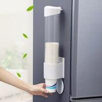שטח חיסכון מתלה כוס נייר חד פעמי כוס מחזיק כוסות אוטומטית מתקן חולץ לבית המטבח דקור|מדפים ומחזיקים|בית וגן -