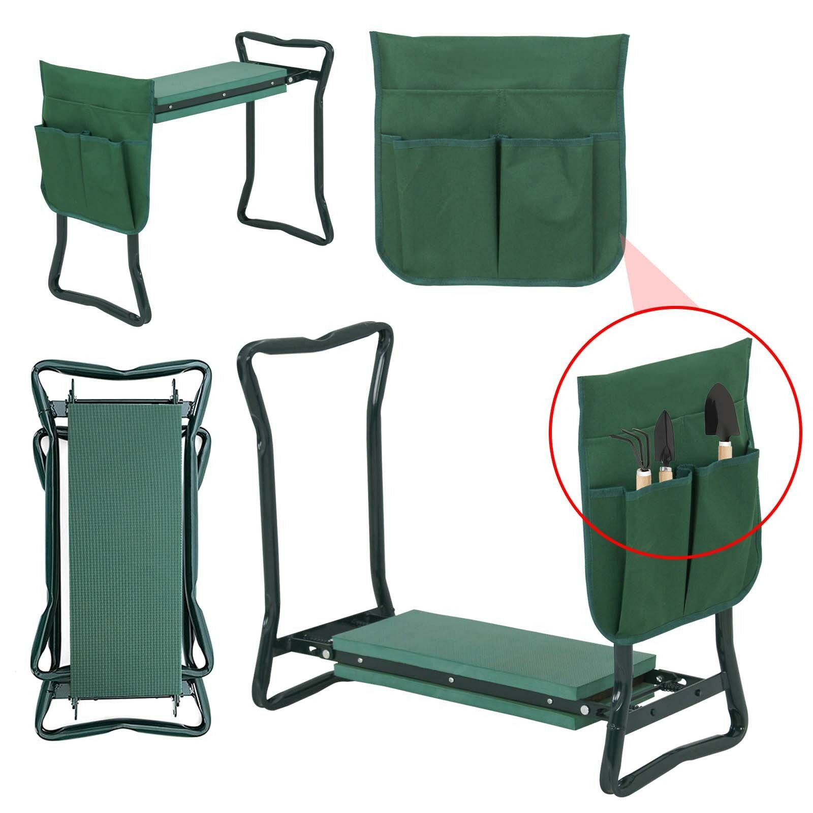 Garden Kneeler Seat w/EVA Folding Portable Bench Kneeling Pad and Tool Pouch New|Shade Accessories| |  - title=