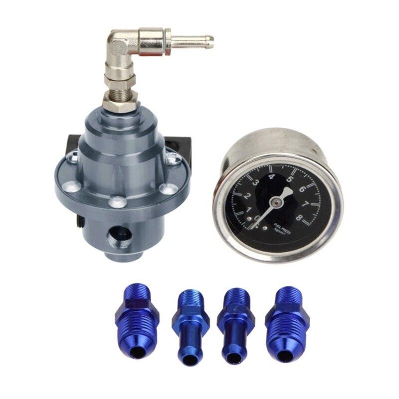 Универсальный Регулируемый Алюминиевый Регулятор давления топлива с комплектом манометра 7 цветов 1XCF