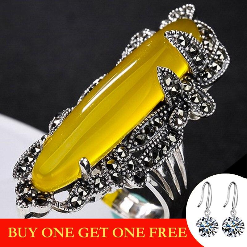 NOT FAKE Israel S925 Fine Antique Shop Ring Sterling Silver Handicraft Health Rich Natural Artisan Baltic Natural Gemstone Amber