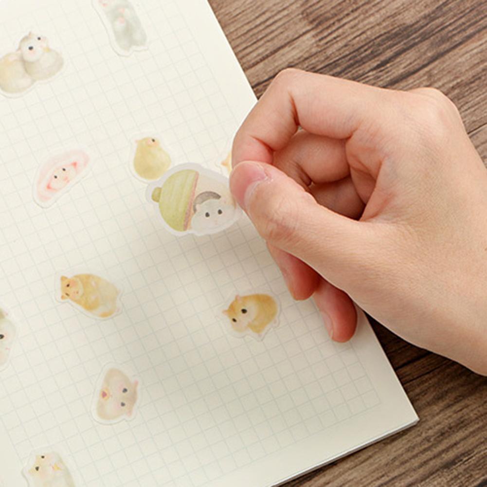 40Pcs Cartoon Hamster Dog Rabbit Notebook Decoration Sticker Scrapbook Label For Laptops Tablet Graffiti