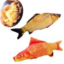 Plush Creative 3D Carp Fish Shape Cat Toy Gifts Catnip Stuffed Pillow Doll Simulation Playing for Pet DM126
