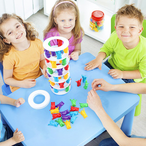 Image 2 - Tower Collapse Desktop Game Balance Toy Challenge Tower Stacked Parent Child Interactive Board Game Intelligence Toys For Kids