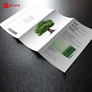 Custom design flyer printing folded flyers paper advertising full color three-fold page double-sided printed poster leaflet A4