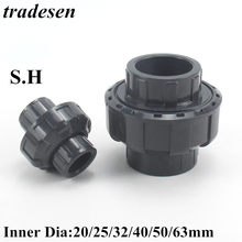 1 sztuk ID 20mm 25mm 32mm 40mm 50mm 63mm UPVC Union łączniki rurowe łącznik pcv złącze do nawadnianie ogrodu System hydroponiczny