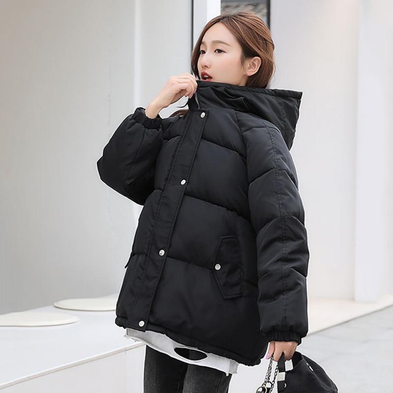 Winter Coat for Women Loose Puffer Parkas Female Korean Style Jacket Women Oversized Thicken Hooded Cotton Padded Coat Ladies