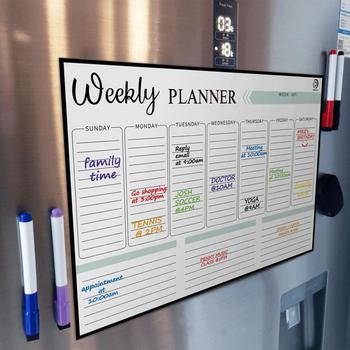 2020 New Magnetic Calendars Monthly Weekly Planner Dry Erase Calendar School/Office Supplies 2021 table calendar simplicity agenda planner weekly monthly to do list desktop paper calendars office stationery supplies