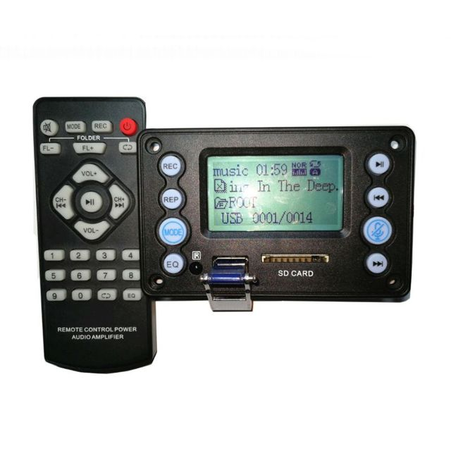 DC 5V 4.0 MIC Recording Port Bluetooth MP3 Decoder Board Module USB SD WAV WMA