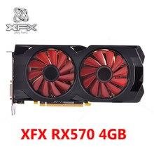 XFX RX 570 4GB Grafikkarten 256Bit GDDR5 Für AMD RX 500 Serie VGA Video Karte RX570 4GB displayPort HDMI DVI DirectX 12 Verwendet