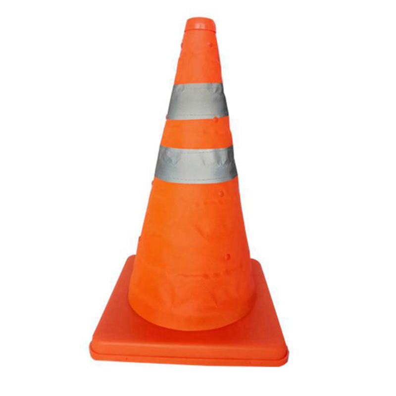 ABKT-Reflective Cone 40Cm Warning Reflective Cone Traffic Movement Retractable Collapsible Convenient Storage
