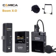 Comica boomx d 2.4G numérique sans fil micro transmetteur Kit Mini téléphone portable Microphone récepteur pour Smartphones micro vidéo