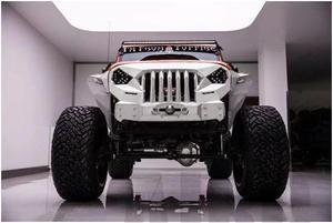 Image 2 - Ms raiva frente rosto grating para 1/10 rc rastreador carro trx4 axial scx10 jeep jk wrangler sema frente grille irritado rosto