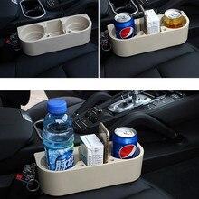 Multi-função titular de copo do carro assento automático gap garrafa de bebida de água telefone chaves organizador suporte de armazenamento suporte de estilo do carro acessórios