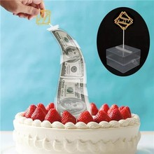 Cake ATM Happy Birthday Topper Money Box Funny Baking Decor Pull Surprise Tool