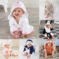 От 6 месяцев до 5 лет милый детский банный халат с капюшоном для мальчиков и девочек, детское банное полотенце, детское купальное одеяло, наря...