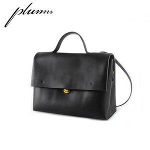 Осень-зима, ретро портфель из мягкой кожи, женская сумка на одно плечо