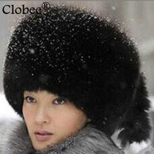 2020 Vetement Style jesień zima kobiety futrzany gruby futrzany sztuczne futro z norek Bomber kapelusze damskie futrzane na co dzień luksusowe Fox futrzane czapki V652