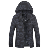 Spring and autumn big Plus size new 8XL 7XL 6XL Men hooded casual Jacket Men Coat Trend Brand fashion Camouflage jacket