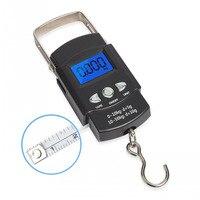 Escala eletrônica da mão da escala do peso 50kg mini escala digital do curso do bolso da bagagem da mala 1 pces|Ferram. atividade ar livre| |  -