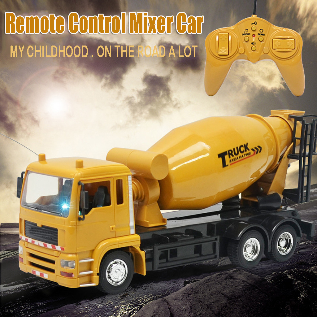 1/24 Scale 8 Channel Remote Control Construction Cement Mixer Truck RC Mixer Intelligent Brinquedos Juguetes Kids Toys игрушки