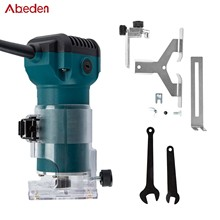 Abede EU P 32600rpm Woodworking Electric Trimmer Wood Milling Engraving Slotting Trimming Machine Carving Machine Router Wood
