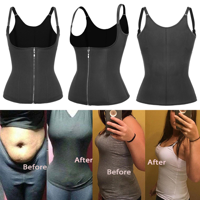 Body Shapes Neoprene Sauna Sweat Vest Waist Trainer Slimming Trimmer Fitness Corset Workout Thermo Modelling Strap Shapewear 3